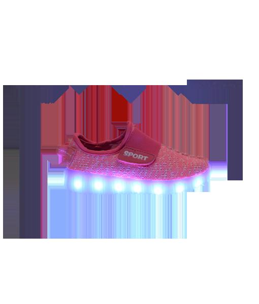 Kids pink sport led shoe