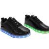 Mens-Woman-Black-lowtop-shiny-ledshoes-2