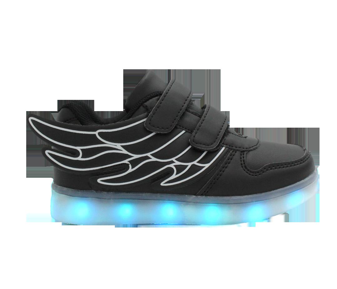light up black shoes