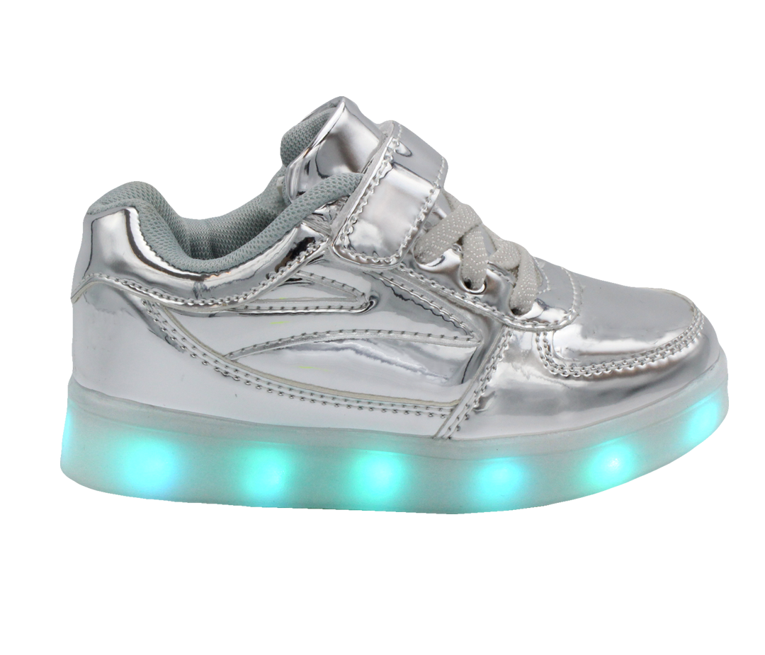 c86933431b6c58 Galaxy LED Shoes Light Up USB Charging Low Top Lace   Strap Kids ...