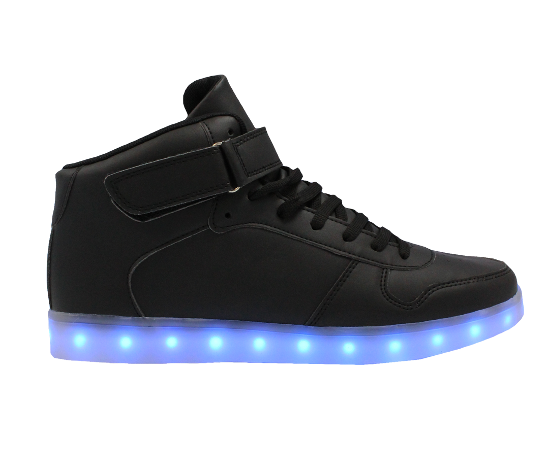 Galaxy Led Shoes Light Up Usb Charging High Top Men Women Sneakers Black Galaxy Led Shoes