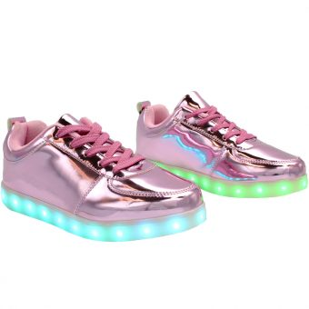 womans-pink-shiny-ledshoes-2