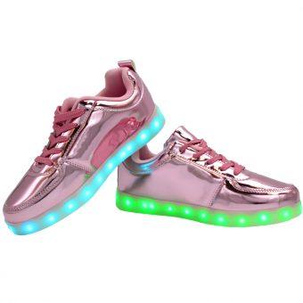 womans-pink-shiny-ledshoes-3