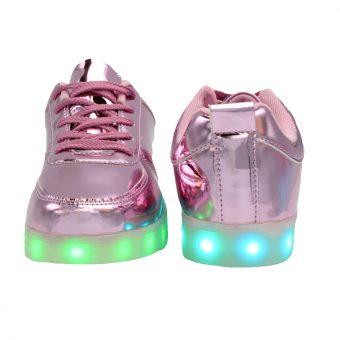 womans-pink-shiny-ledshoes-4